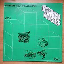 Bruton Music Library Themes - Fanfares, Links, Bridges, Stings LP vinyl VG+/VG+