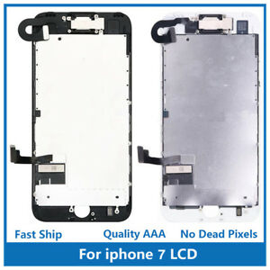 """iPhone 7 4.7"""" Full Screen Replacement Front Camera Ear Speaker LCD Shield Plate"""