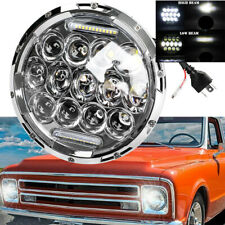 Chrome Dot 7 Round Led Headlights Hilo Beam Sealed For Chevy Truck Camaro C10 Fits Mustang