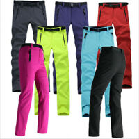 Womens Warm Outdoor Hiking Ski Pants Fleece Padded Windproof Waterproof Trousers