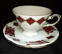 Vintage Kronester Tea Cup & Saucer Set - Bavaria- Porcelain- 1980's, Germany