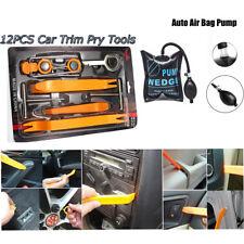 12pc Car Audio Panel Removal Tools Kit +Air Pump wedge for Dash Door Trim Repair