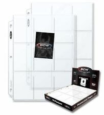 (25) BCW 9-Pocket Trading / Baseball Card Pages / Coupon Binder Sheets