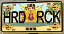 "Hard Rock Hotel GOA INDIA 2018 LICENSE PLATE Series Core PIN ""HRD RCK"" HR #99770"