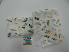 Floral Burp Cloths Sweet Vanilla Fern 2 Pack Toweling Backed GREAT GIFT