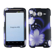 Midnight  Floral Hard Case Cover for HTC Inspire 4G