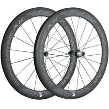WINDBREAK 60mm Carbon Clincher Wheelset Road Bicycle 700C Wheels Matte Shiamno