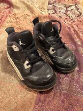 Nike Air Jordan 4 IV Retro 10C LS TD Toddler Black Grey Cement 707432-003
