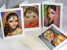 Indian Brides: Set of 4 Beautiful Art Greeting Cards