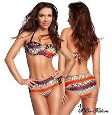 Markenlose Damen-Bikini-Sets mit Neckholder aus Polyamid