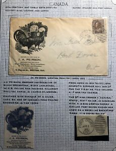 1922 Weston Canada Advertising Peirson Poultry Breeders Cover To Port Dover