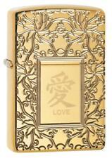 Zippo 49022, Love-Chinese Symbol, High Polish Brass Armor Lighter