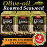 Korean Food Seaweed Snack Olive-oil Roasted Seasoned Laver Nori Gim/Kim 9 Packs
