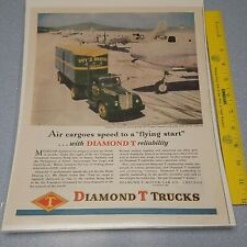 New listing 1945 ad for Diamond T trucks model 910 delivers air cargo Man Cave Art