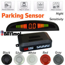 Car 4 Parking Sensor Radar LED Display Reverse Buzzer Alarm Aid Radar Backup Kit