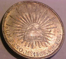 1908 Mo-AM Mexico Old Silver Peso ~Superior Toned Gem    ☆☆Make An Offer☆☆ Save$