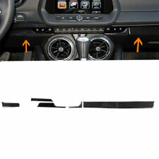 Carbon Fiber Dashboard Center Console Strip Cover For Chevrolet Camaro 2017-2019