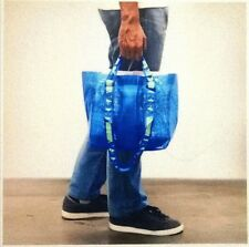 IKEA BRATTBY Small Bag Grocery Laundry Shopping Storage Tote Blue 27x27x18.5 cm