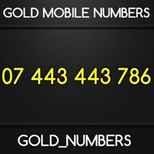 GOLDEN GOLD MOBILE PHONE NUMBER BUSINESS VIP SIM CARD 07443443786