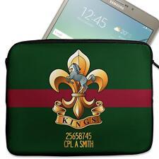 """Personalised Tablet Sleeve KINGS REGIMENT 7"""" - 11"""" Army Case MC12"""