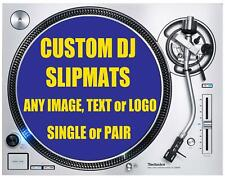 More details for custom personalised dj slipmat with an image, logo or text of your choice
