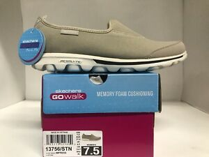 Skechers Performance Memory Foam Slip-On Stone Womens Size 7.5