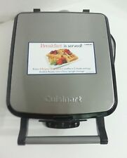 Cuisinart 4 Slice Belgian Waffle Maker 5 Settings Brushed Stainless Steel No Box