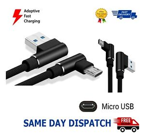 Micro USB Fast Charger Data Sync Charging Cable Cord with 90 Degree Right Angle