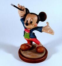 Anri Carved Wood Figurine Limited Edition Walt Disney Mickey Mouse Maestro