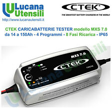 CTEK CARICABATTERIE modello MXS 7.0 - 150Ah - 4 Programmi - 8 Fasi AGM GEL Acido
