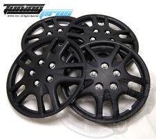 "Hubcap 15"" Inch Wheel Rim Skin Cover 4pcs Set Matte Black -Style 523 15 Inches-"