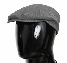 DOLCE & GABBANA Hat Cotton Stretch Gray Patterned Newsboy Cap s. 57 / S RRP $230