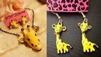 E32 Betsey Johnson Giraffe Lion King Earrings *necklace sold separately*   US