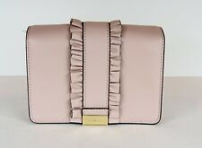 acac8acce4 New Michael Kors Jade MD Gusset Clutch rows ruffles bag leather snap solf  pink