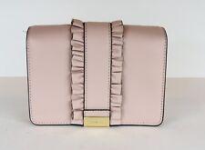 9eeeeeca33e5 New Michael Kors Jade MD Gusset Clutch rows ruffles bag leather snap solf  pink
