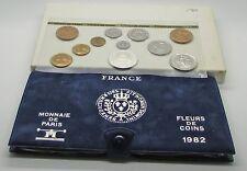 France 1982    Monnaie De Paris Fleurs De Coin FDC  11 Coin Set Box & COA