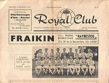 Royal Club Liegeois v. Arsenal 18/12/1963 Fairs Cup