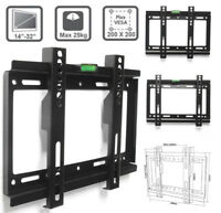Slim TV Wall Bracket Mount 14-32 18 20 24 30 32 inch Plasma LCD LED Monitor US