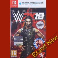 WWE 2K18 - Nintendo Switch ~16+ UK Brand New & Sealed!