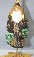 Patricia Breen Through The Woods Santa 2001 Black Coat Poland Glass Ornament