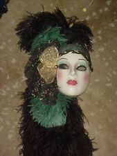 CLAY ART CERAMIC MASK..EMERALD...EXTREMELY RARE!