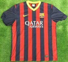 SPAIN BARCELONA  NIKE HOME FOOTBALL SHIRT 2013 - 14  SIZE LARGE ADULT