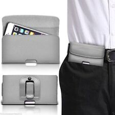 Horizontal Belt Clip Quality Pouch Holster Top Flip Phone Case Holder✔Grey