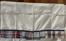 New listing Pottery Barn Kids Red White Blue Bed Skirt w Navy Accent & Box Pleat - Crib Size