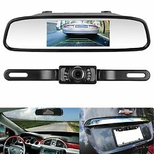 Emmako CMOS Backup Rear View Camera and Mirror Monitor Kit for Car Vehicle With