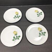 Winterling Bavaria Salad Plates Dessert Rose Flower Porcelain Print