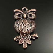 20pcs Vintage Red Color Alloy Owl Shaped Charms For Necklace Pendants Making