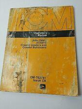 John Deere Operators Manual Jd350 C Crawler Loaderbulldozer Om T62741 Issue C8