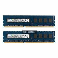 16GB Samsung 2x8GB DDR3 2RX8 1600MHz PC3-12800E 240pin ECC Memory Unbuffered