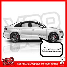 x1 Sports mind powered by Quattro sticker,Audi(vinyl cut sticker/bumper sticker)